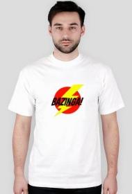 Koszulka Bazinga! wzór 1 biała