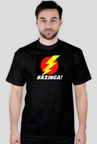 Bazinga wzór 2 koszulka czarna