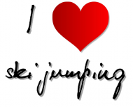 """Poszewka """"I love ski jumping"""" 1"""