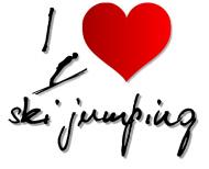 "Koszulka damska ""I love ski jumping"" 2"