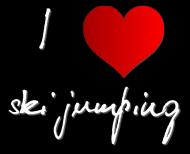 """Koszulka damska """"I love ski jumping"""" 1 czarna"""