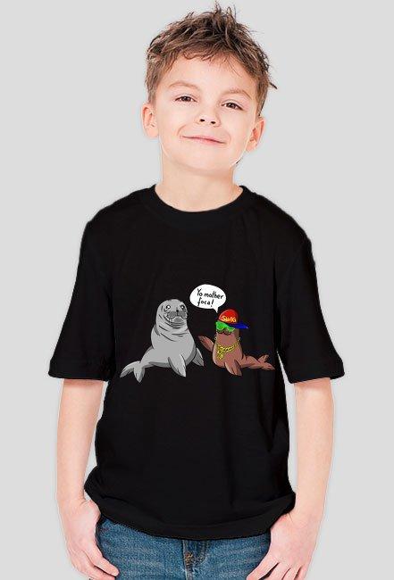 Yo mother foca! - śmieszna koszulka dziecięca