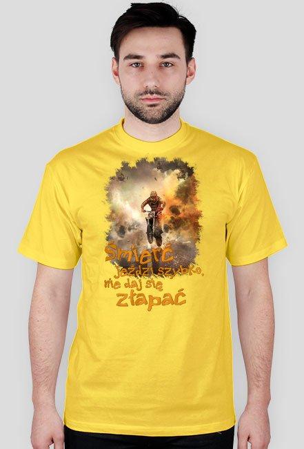 Śmierć jeździ szybko nie daj się złapać - koszulka męska