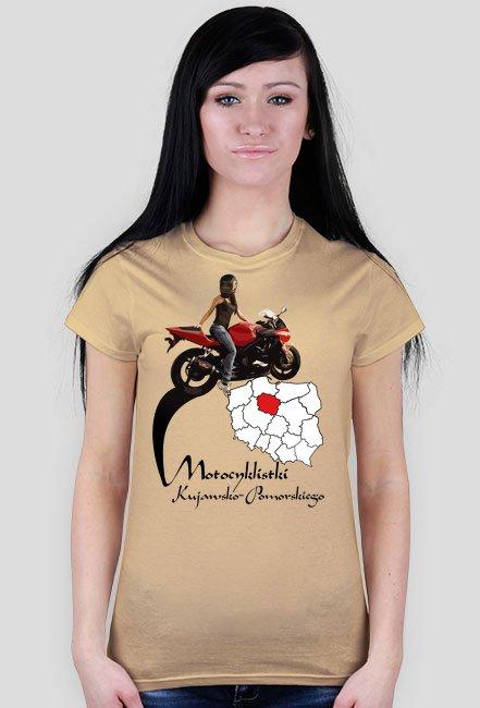 Motocyklistki kujawsko-pomorskiego - koszulka damska