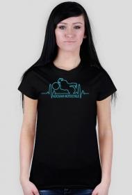 Kocham motocykle EKG - koszulka damska