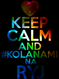 t-shirt keep calm and #kolanami na ryj