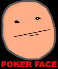 poker face z napisem czarna komixxy