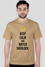 Keep calm and watch Sherlock - męska