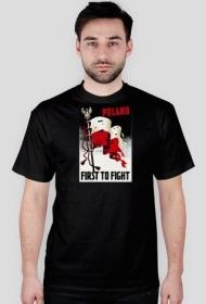 "Koszulka ""Poland First to Fight"", czarna - męska"