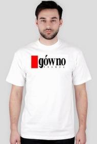 """Koszulka z napisem """"gówno prawda"""", biała - męska"""