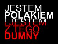 """Koszulka z napisem """"Jestem Polakiem I Jestem Z Tego Dumny"""", czarna - męska"""