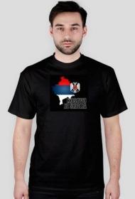 "Koszulka ""Kosovo je Srbija"", czarna, męska"