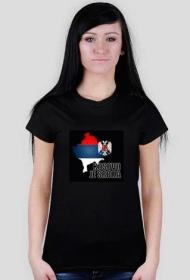 "Koszulka damska ""Kosov je Srbja"""