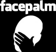 Facebook facepalm koszulka damska