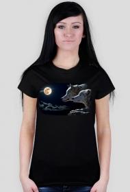 Wilki - koszulka damska