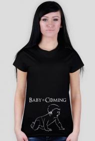 Koszulka dla kobiet w ciąży - Baby is coming