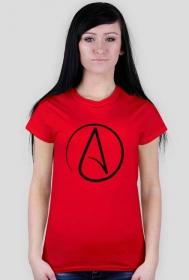 Koszulka z symbolem ateizmu