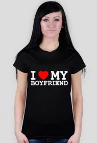 I love my boyfriend - koszulka czarna
