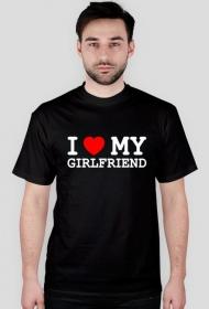I love my girlfriend - koszulka czarna