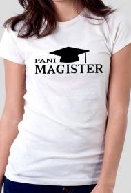 obrona pracy mgr - pani magister biała koszulka