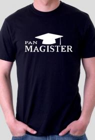 obrona pracy mgr - pan magister czarna koszulka