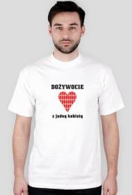 prezent na wieczór kawalerski - koszulka dożywocie z jedną kobietą