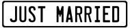 Koszulka dla nowożeńców - Just married męska