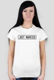 Dla nowożeńców - Just married koszulka damska