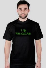 I love Reggae - koszulka męska