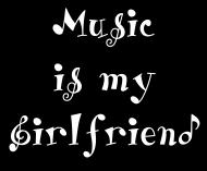 Koszulka Music is my Girlfriend czarna
