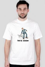 Aśnaebaem koszulka biała