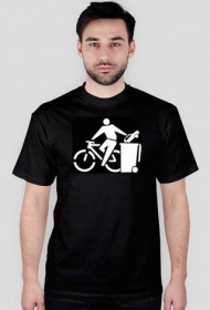 Przesiądź się na rower - koszulka czarna