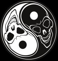 Koszulka Ying Yang czaszki