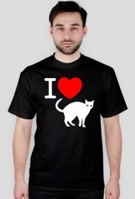 Kocham koty - koszulka czarna