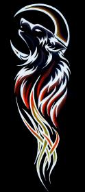 Koszulka wilk tribal tatuaż