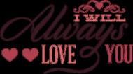 Pluszowy miś - I will always love you