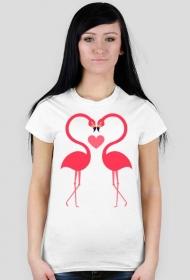 Koszulka flamingi miłość