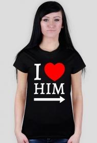 love him koszulka czarna