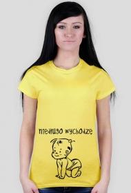 Koszulka dla kobiet w ciąży - niedługo wychodzę