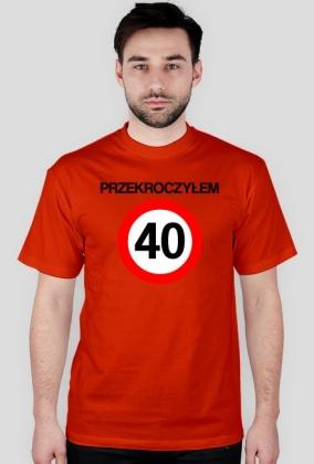 40 urodziny koszulka dwustronna