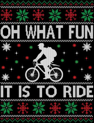 Koszulka świąteczna z rowerem Oh what fun it is to ride