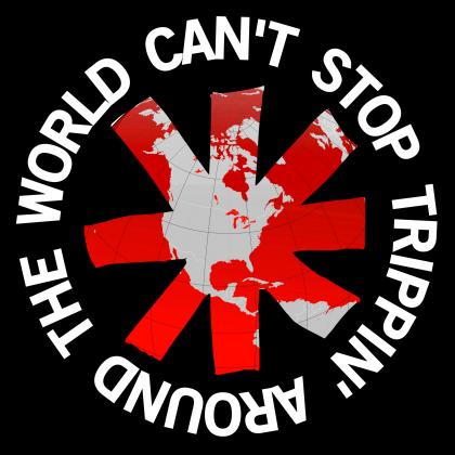 Can't stop Trippin' Around the world - koszulka męska
