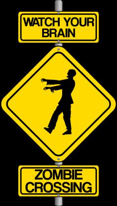 Koszulka Zombie crossing