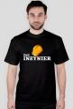 Koszulka dla inżyniera - Pan inżynier czarna