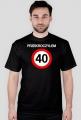 Prezent na 40 urodziny - Przekroczyłem 40 koszulka czarna