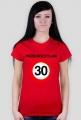 Przekroczyłam 30 - koszulka na 30 urodziny