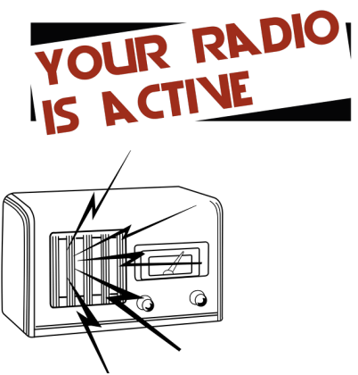 Your radio is active bluza