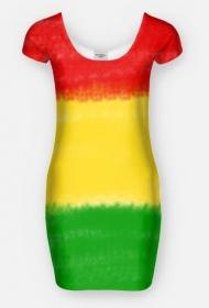 Reggae rasta sukienka