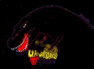 Torba ukulele t-rex zielona