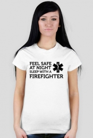 Feel safe at night sleep with a firefighter Black